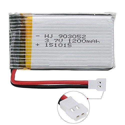 YUNIQUE ESPANA 1 Pieza 3.7V 1200mAh batería de repuestos syma RC X5SW...