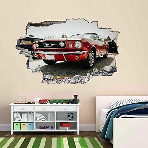 Pegatinas de paredMuscle Car Wall Art Sticker Mural Decal Kids Dormitorio Decoración para el hogar BM19