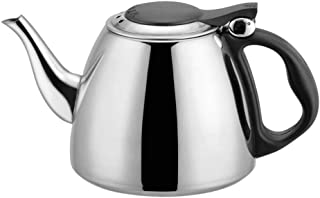 Big.Promotion | 1.2L Kitchen Rapid Heating Stainless Steel Flat Bottom Water Kettle