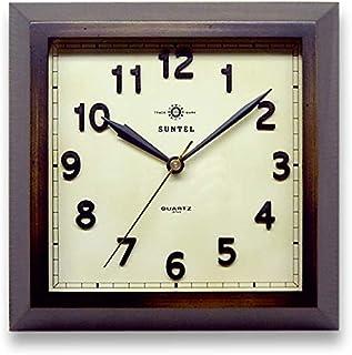 さんてる 掛け時計 アンティーク 250×250×45mm スクウェアー電波掛時計 アンティーク DQL696AN