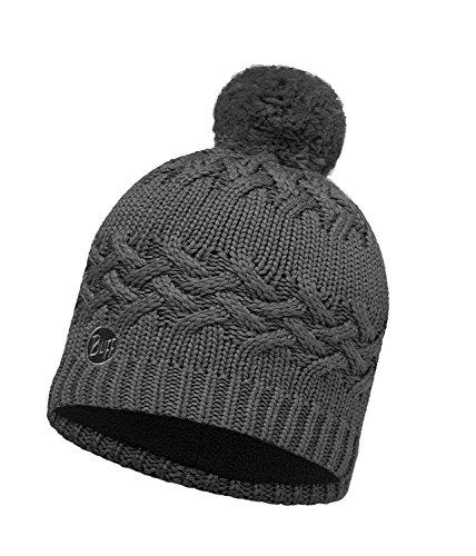Buff Set - Knitted & Polar Hat Bonnet de Hiver + UP Tissu Tubulaire   Tricoté   Bonnet de Ski   Knitted:SAVVA Grey Castlerock / 111005.929.10.00