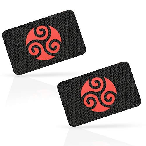 M-Tac Morale Patches Celtic Knot Triskelion Tactical Patch Lazer Cut (Black/Red 2 pcs.)