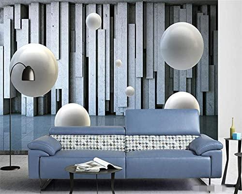 Renovación del hogar Muebles Papel Tapiz fotográfico Mural Etiqueta de la Pared 3D Espacio Abstracto Bola Tridimensional Fondo de Pared 3D Papeles de Pared Decoración 300cmX250cm