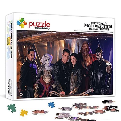 OKJK Puzzle per Adulti 500 Pezzi Michelle TrachtenbergPuzzle in Legno Poster Stella Gioco Puzzle, stimolante Regalo educativo 52x38cm