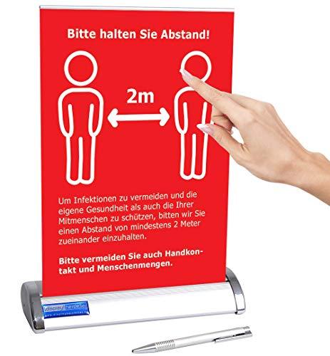 Displayhersteller Roll Up Mini DIN A4 Aufsteller mit