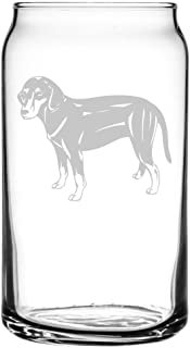 Montenegrin Mountain Hound Dog Themed Etched All Purpose 16oz Libbey Can Glass