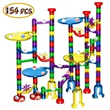 Veatree Circuits de Billes - 154pcs Marble Run Toys, Jouets Toboggan à Billes, Blocs Jeux de Construction, Jouet intellectuel, Jouets éducatifs STEM, Formule Billes, Cadeaux Enfants Anniversaire