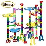 Veatree Kugelbahn, 138tlg Murmelbahn, Marble Run, Konstruktionsspielzeug, pädagogisches Lernspielzeug, DIY Bausteine, intellektuelles Spielzeug