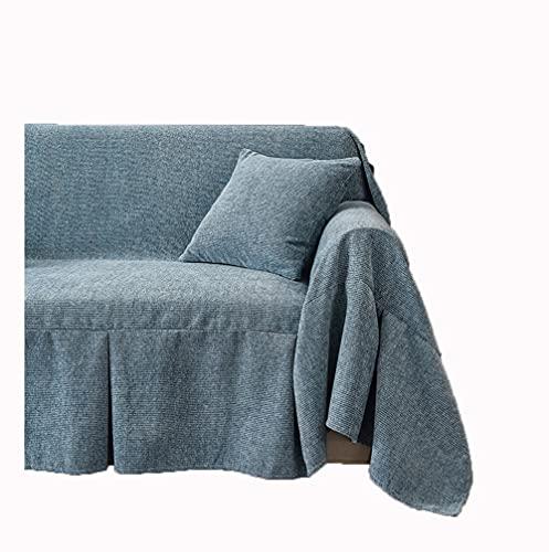 YOUYUEIUI Colcha Multiusos,Fundas Decorativas para sofás,Cubre Sofá Reversible y Acolchado,Funda Chaise Longue Brazo,Mantas Cubre Sofas,Funda de cojín de protección para Gat(Size:4 Seater,Color:Azul)