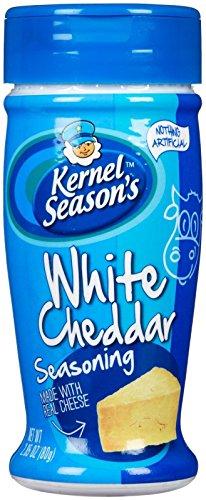Kernel Season's - Condimento para Palomitas de Queso Cheddar Blanco (80g) Sabores para Palomitas