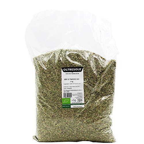 Oltresole - Semi di finocchio biologici, per tisana e digestivi, formato convenienza 3 kg