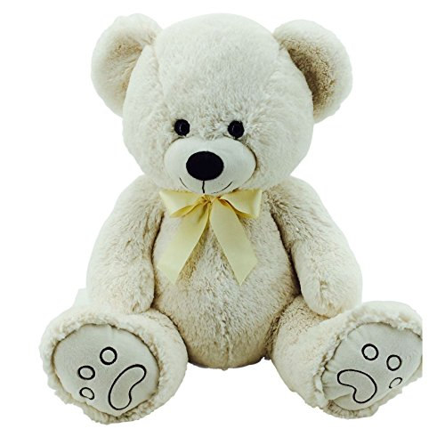 Sweety-Toys 5727 Riesen Teddy Bär Teddybär Plüschbär mit Schleife beige ca. 70cm supersüss Sweety-Toys supersoft