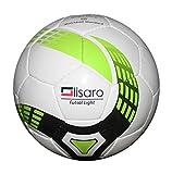 Ballon de football pour foot en salle-ball taille 4/350 g (blanc/vert)