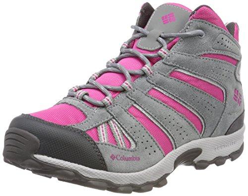 Columbia Fille, Chaussures de Trail running, Imperméable, YOUTH NORTH PLAINS MID, Rose (Wild Geranium, HauteRose), Pointure: 39