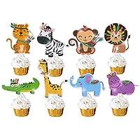 24-Pack Cooper life Glitter Jungle Safari Animal Cupcake