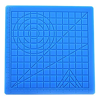 Gmoher 3D Pen Geometrical Silicone Mat, High Temperature Resistant Silicone Design with Basic Template Mat,3D Pen Accessory Drawing Mat for Kid or Adults