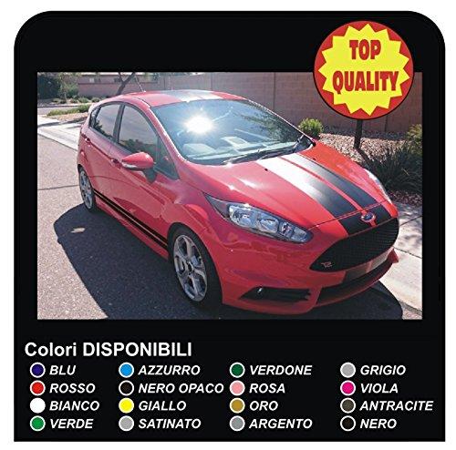 adesivi Strisce Auto Vinile Decalcomanie Grafiche fasce adesive adesivi racing stickers tuning stickers decals (NERO)