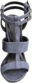 Inlefen Women's High Heel Sandals Sexy T Strap Platform Dress Party Shoes