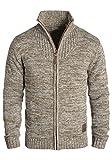 !Solid Pomeroy Herren Strickjacke Cardigan Grobstrick Winter Pullover mit Stehkragen, Größe:L,...