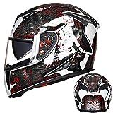 Doppelvisier Full Face Motorradhelm Anti Fog Winter Warme Motorradhelme Moto Motocross Racing...