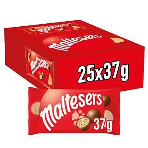 Maltesers Snack En Bolitas De Leche Malteada Recubiertas De Chocolate Con Leche (25 Bolsitas De 37g), 925 Gramo