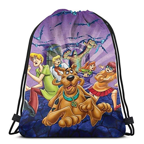 IUBBKI Multifunction Drawstring Backpack Bag Scooby Sport Gym Sackpack Cinch Waterproof Bag for School Yoga Gym Swimming Travel Backpack