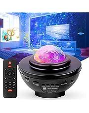 Led-sterrenhemel projector, oceaangolven, sterprojectorlamp met bluetooth-luidspreker, perfect voor Kerstmis, Pasen, kamerdecoratie, feest
