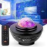 Swonuk LED Sternenhimmel Projektor Lampe Ozeanwellen Sternenlicht Projektor mit Bluetooth Musikspieler/ Fernbedienung/3 Helligkeitsstufen Beste Geschenke für Party Zuhause Schlafzimmer