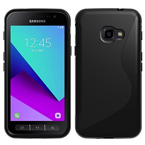 HCN PHONE Samsung Galaxy Xcover 4 SM-G390F Custodia S-Line TPU Gel Silicone Custodia Flessibile per Samsung Galaxy Xcover 4 SM-G390F - Nero