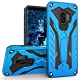 Zizo Static Series Compatible with Samsung Galaxy S9 Plus Case Military Grade Drop Tested with Built in Kickstand Blue Black