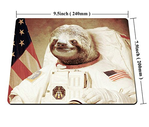 Smooffly Gaming Mouse Pad Custom,Funny Sloth Dress As a Astronaut Personality Mouse Pad Unique Design Mousepad Photo #6