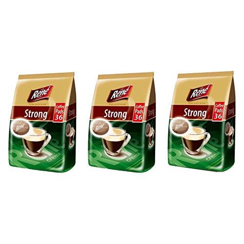 Philips Senseo Luxury Caf? Rene Crem? Dark Roast Coffee Pads Pods Bag 252 g (Pack of 3, Total 108 Coffee Pads)