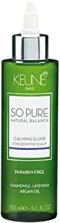 Keune So Pure Natural Balance Calming Elixir 150ml with chamomile lavender and argan oil for sensitive scalp Paraben Free