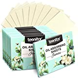 Teenitor 1000 Counts Oil Absorbing Sheets, Oil Blotting Paper, Oil Absorbing Tissues, Face Facial Natural Oil Control Film Blotting for Oily Skin Care Men Women-Jasmine