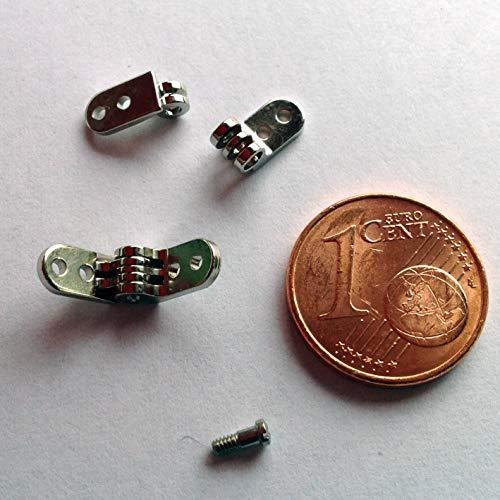 Brillenscharniere, Mini-Scharniere, Präzisions-Scharniere, 4mm, Nietscharniere, Schraubscharniere, Brillenkomponenten
