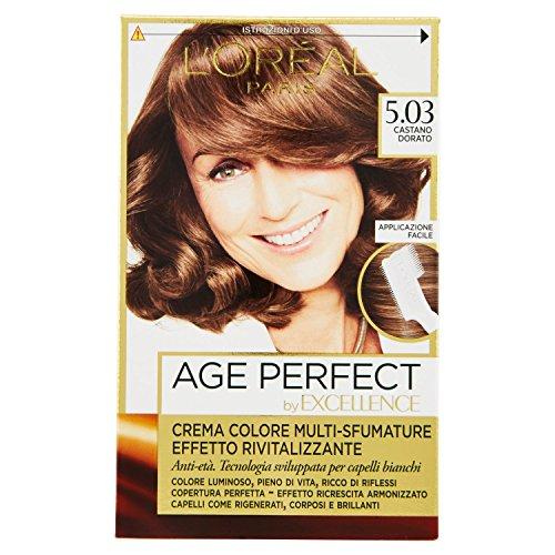 L'Oréal Paris Excellence Age Perfect Crema Colore Effetto Rivitalizzante, 5.03 Castano Dorato