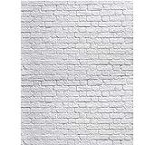 SJOLOON White Brick Wall Backdrop White Brick Photo Backdrop Thin Vinyl Photography Backdrop Background Studio Prop 10931 (6x9FT)