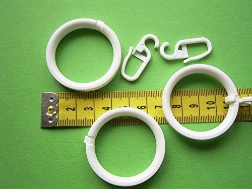 Ringe flach weiß 20mm Gardinenstangen 10 Stück