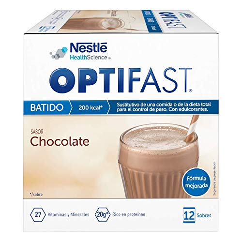 OPTIFAST Batido Chocolate. Envase de 12 sobres x 53g
