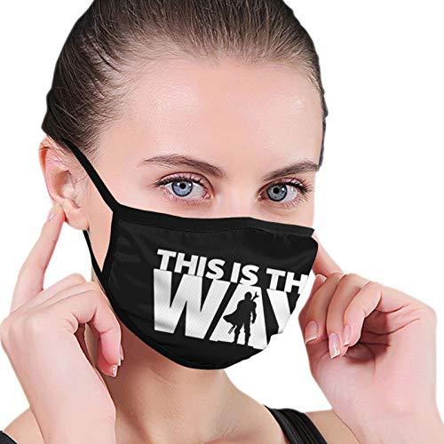 S-tar-W-ars This is The Way - Bufanda facial para mujeres y hombres, orejas, bucles para la boca