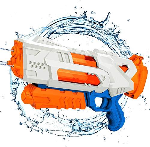 Wasserpistole, Größte Wasserpistole, Transparenter, Schnell Füllbarer Wasserblaster 3 Düsen Für Kinder Hochleistungs-1000CC-Spritzpistole 30 Fuß Sommer-Poolspielzeug Für Kinder Für Erwachsene