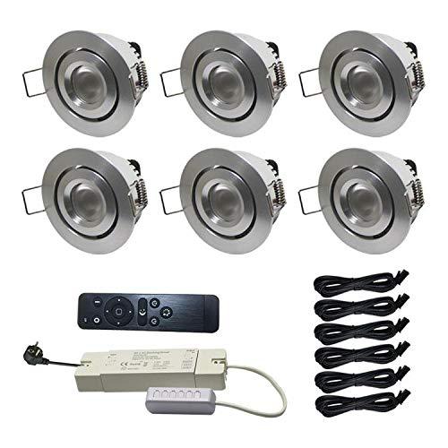 6X LED Beleuchtung Schwenkbar 3W Dimmbar mit Fernsteuerung (Terrassenüberdachungen)
