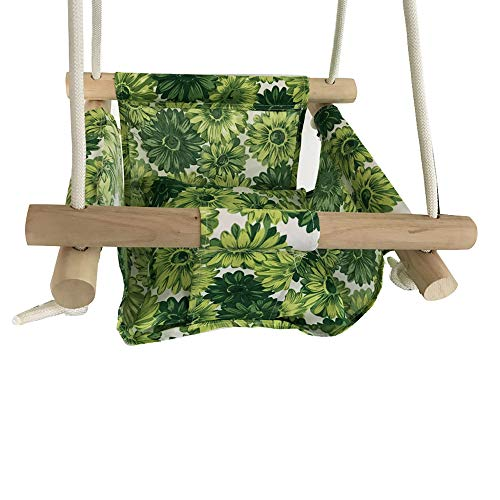 Baby Swing Hammock fauteuilset, canvas, hangende stoel met kussentje, outdoor, indoor, tuin, indoor, rocker, lading, 50 kg