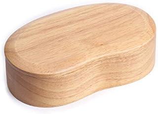 弁当箱 豆型 天然木製 一段弁当箱 そらまめ弁当箱 薄型 天然漆塗 通勤 通学 お花見 ランチボック 3〜5労働日以内配達