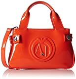 Armani Jeans Shoes & Bags DE Damen 0529D55 Clutches, Mehrfarbig (ROSSO ARANCIO L4), 5x12x20 cm