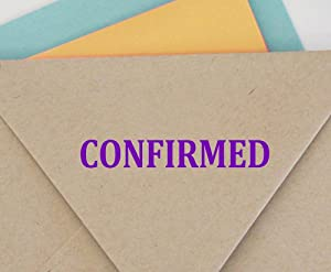 Confirmed Self Inking Rubber Stamp Custom Colop Office Stationary P20 Mini Stamper