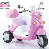 Bakaji Moto Scooter Elettrico Ricaricabile Vespina Vintage per Bambini 6V...
