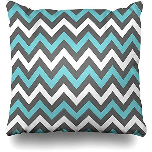 KerClara-weiwin-pillowcases Throw Pillow Cover Blue Watercolor Grey White Charcoal Turquoise Chevron Albums Creativity Graphics Abstract Teal Aqua Home Decor Cushion Case