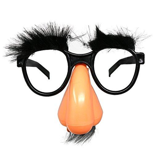 Gafas de disfraz de esqueleto con nariz - Groucho Marx Funny Old Man Glasses - 1 pieza