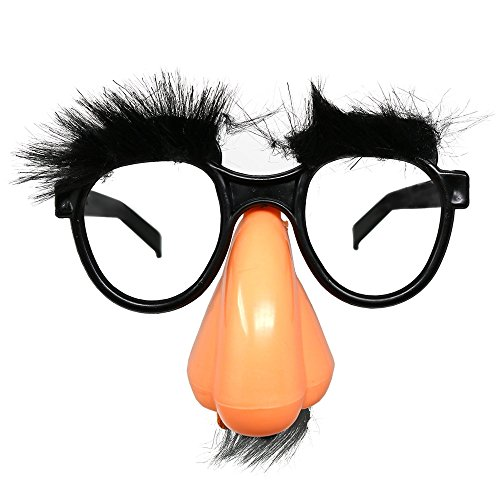 Skeleteen Disguise Glasses with Nose - Groucho Marx Funny Old Man Glasses - 1 Piece